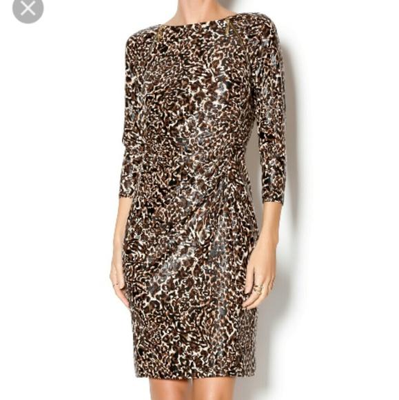 4bbef907f334 Joseph Ribkoff Dresses | Animal Print Ruched Dress | Poshmark